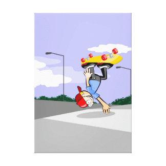 Toile Skateboards enfant de tête dans la pente