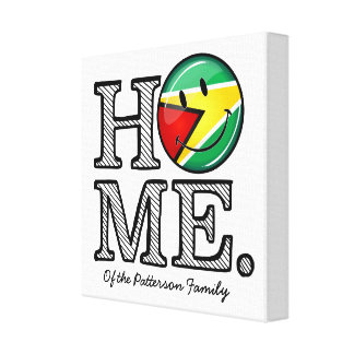 Toile Smiley Housewarmer de drapeau de la Guyane