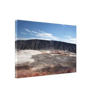 Toile Source thermale de parc national de Yellowstone,