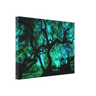 Toile Sous l'arbre en turquoise II