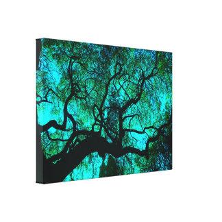 Toile Sous l'arbre en turquoise III