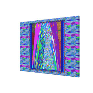 Toile Spectre de découpage en pierre coloré de haute