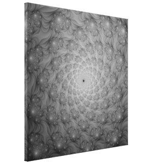 Toile Spirale des spirales dans la copie monochrome