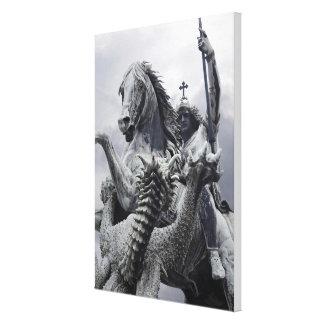 Toile St George et dragon par baiser d'Eduard
