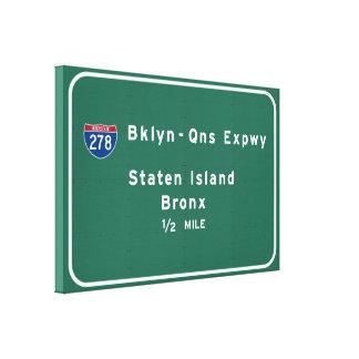 Toile Staten Island Bronx NYC d'un état à un autre New