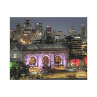 Toile Station des syndicats de Kansas City la nuit