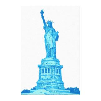 Toile Statue de la liberté aux nuances du bleu