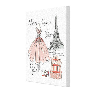 Toile Style de semaine de mode d'Apple sauvage | Paris
