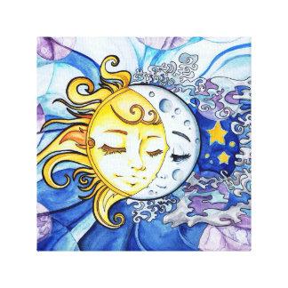 Toile Sun et lune