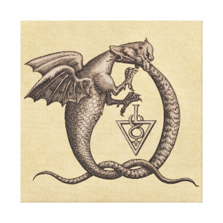 Toile Symboles de Mercury de soufre de serpent de dragon