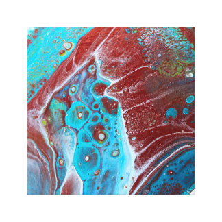 Toile Teal et l'acrylique d'en cuivre versent l'art