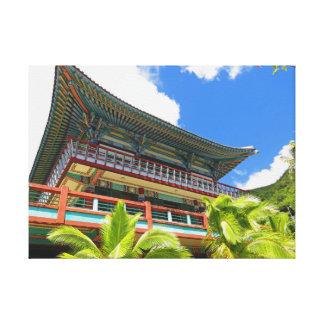 Toile Temple bouddhiste coréen