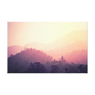 Toile Temple de lever de soleil de la photographie   de