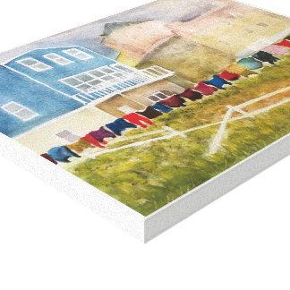 Toile TERRE-NEUVE, - aquarelle, copie enveloppée de