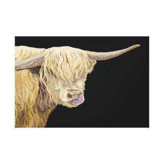 Toile Tête et épaules des montagnes de vache