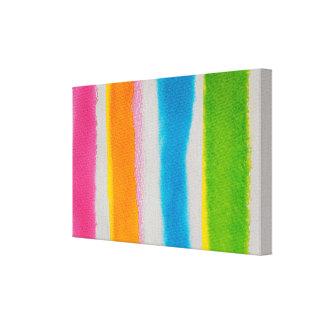 Toile Texture de rayures d'aquarelles