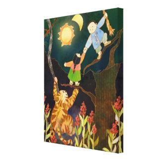 Toile The Sun et conte folklorique coréen de lune
