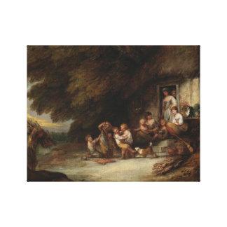 Toile Thomas Gainsborough - la porte de cottage