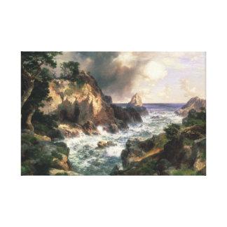Toile Thomas Moran - point Lobos, Monterey, la