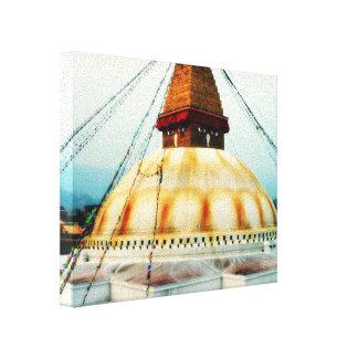 Toile Tibétain Boudhanath Stupa Bouddha Népal