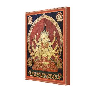 Toile Tibétain Thangka de Guhyasamaja Akshobhyavajra