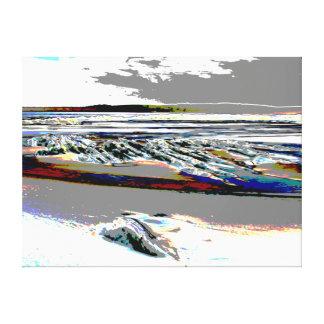 """Toile """"Toile abstraite de plage """""""