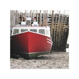 """Toile """"Toile étirée de bateau de pêche """""""