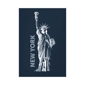 Toile Toile. Liberty, statue de liberté, New York, les