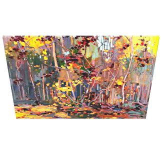 Toile Tom Thomson peignant, jeunes arbres d'érable