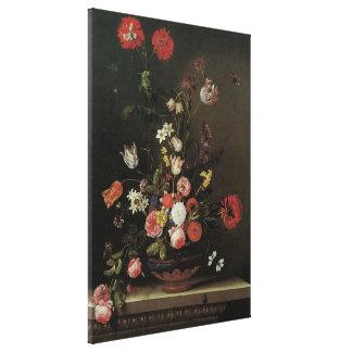 Toile Toujours fleurs florales baroques vintages de la