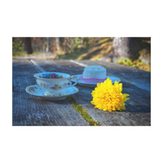 Toile Toujours la vie rustique avec la tasse de thé