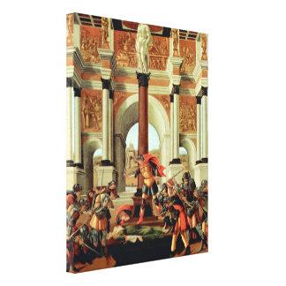 Toile Tragédie de Lucretia par Botticelli, art de