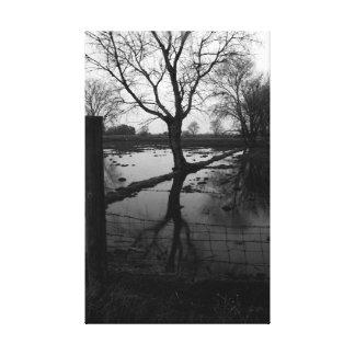 Toile Tranquilité en noir et blanc