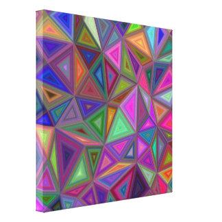 Toile Triangles chaotiques multicolores