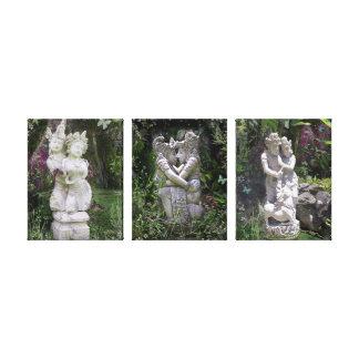 Toile Trilogie antique de statues d'amants