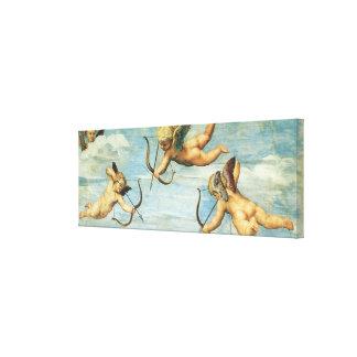 Toile Triumph de Galatea, détail d'anges par Raphael