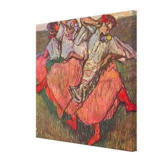 Toile Trois danseurs russes par Edgar Degas