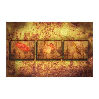 Toile Trois feuilles
