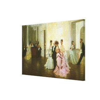 Toile Trop tôt par James Tissot, art victorien vintage
