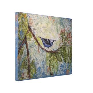 Toile tropicale bleue 18x22 d'impression