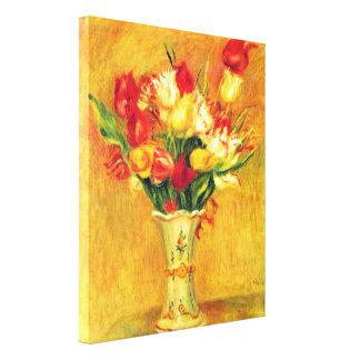 Toile Tulipes par Pierre Renoir, art vintage