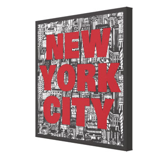 Toile Typographie de gratte-ciel de New York City |