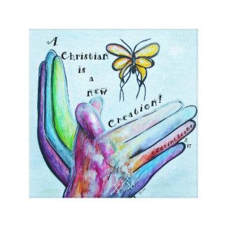Toile Un chrétien est une nouvelle création !