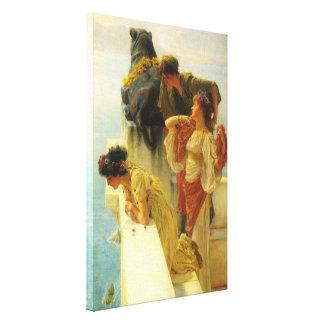 Toile Un Coign d'avantageux par Alma Tadema, art vintage