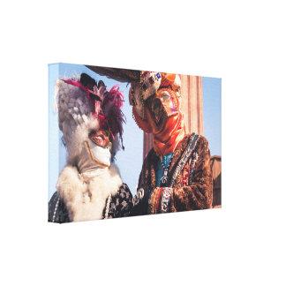 Toile Un couple dans le carnaval de Venise