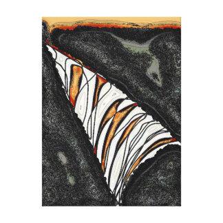 Toile Un trou dans le mur - une tranche d'orange