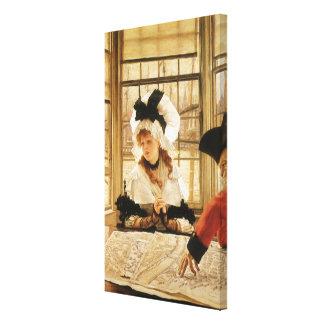 Toile Une histoire pénible par James Tissot, beaux-arts
