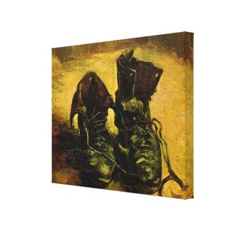 Toile Une paire de chaussures par Vincent van Gogh, art