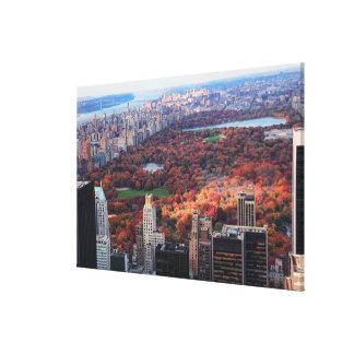 Toile Une vue d'en haut : Automne dans le Central Park