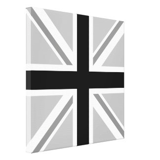 Toile Union Jack/monochrome de drapeau